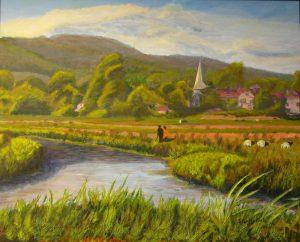 Amberley Water Meadows Painting
