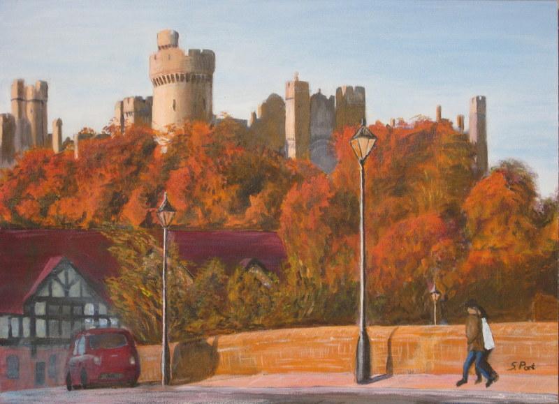 Arundel Castle from Queen Street Bridge