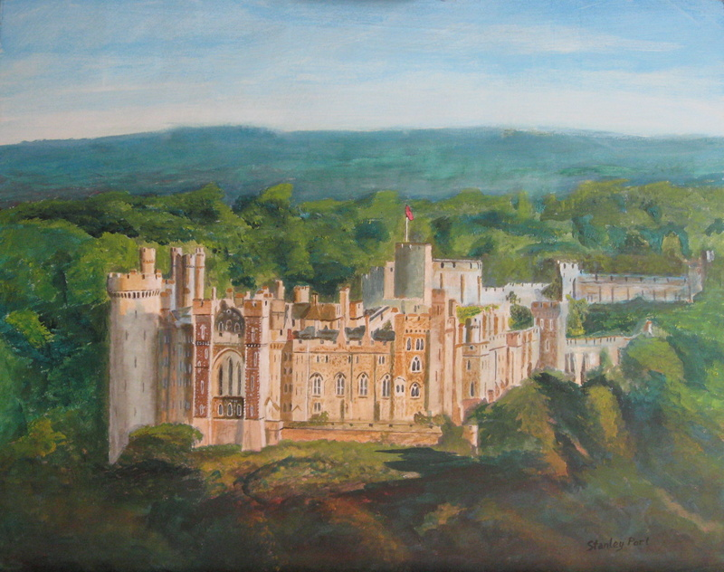 Arundel Castle in its park setting