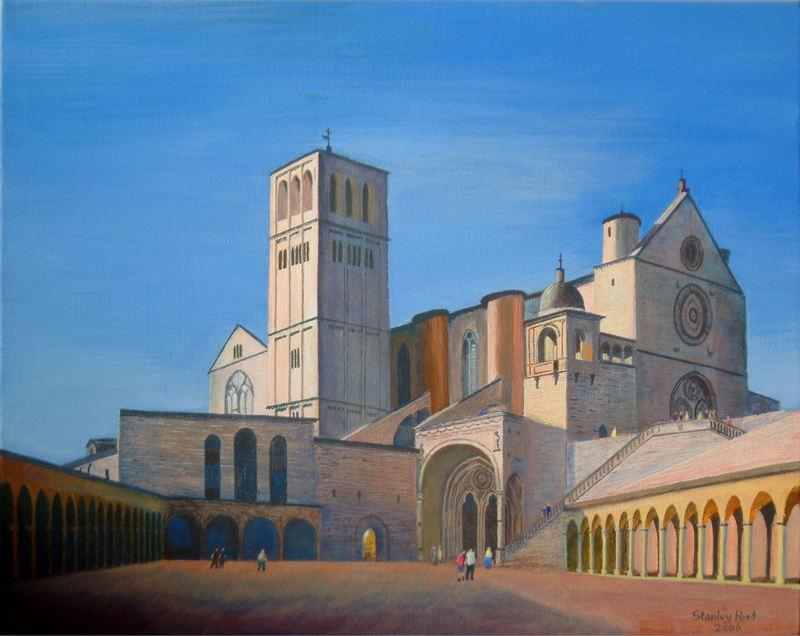 Basilica of St Francis in Assisi in italy