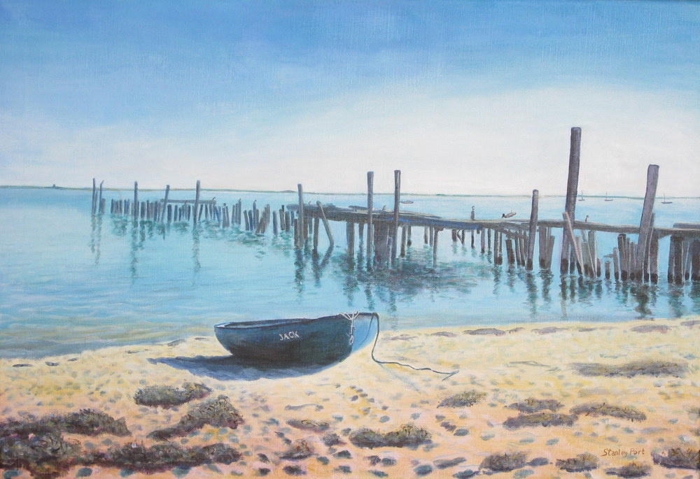 Cape Cod Jetty painting