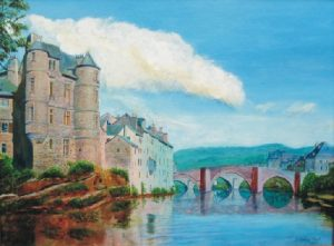 River Lot at Espalion painting
