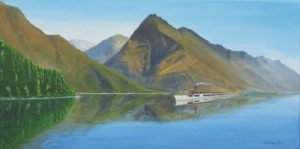 Painting of Earnslaw at Queenstown