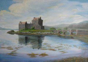 Eilean Donan highland castle painting