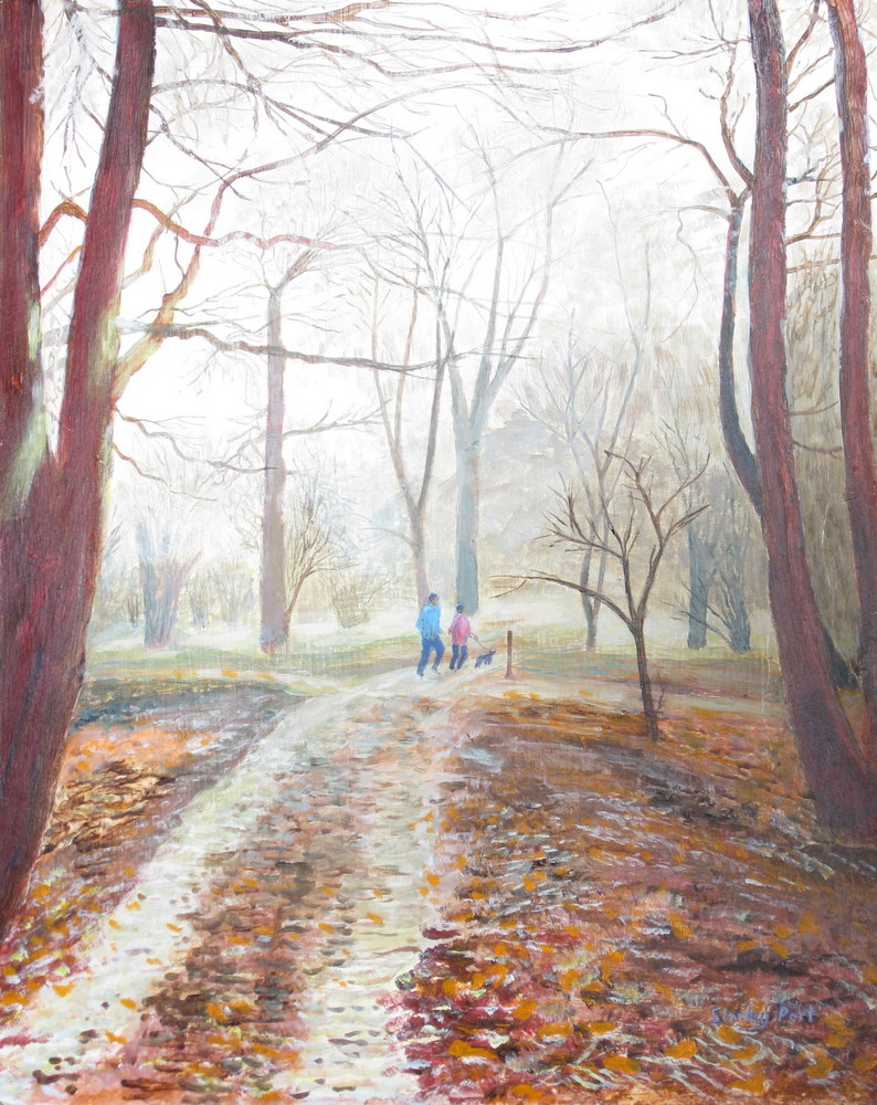Painting of Autumn In Winkworth Arboretum In Surrey