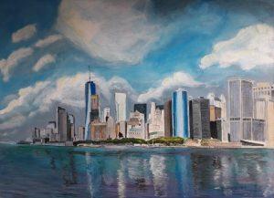 Manhattan Skyline painting