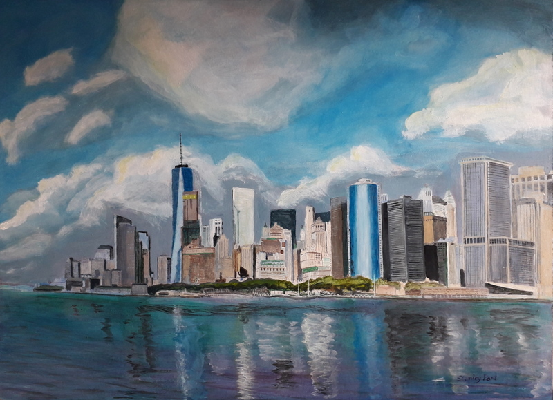 Manhattan Skyline painting