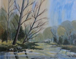 Painting of Stream and Wood