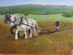 Ploughing by Horse at Singleton