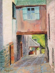 Painting of Conques France
