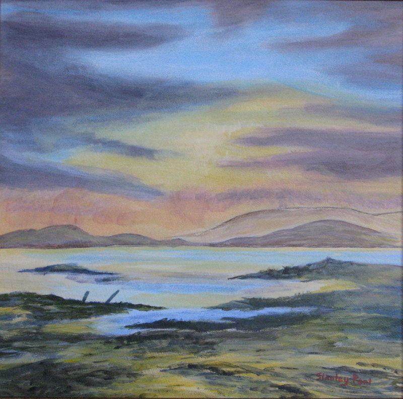 Seascape from road to Mallaig in Scotland
