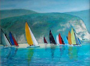 Sails on Lake Garda painting