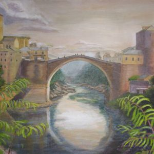 Mostar Bridge painting
