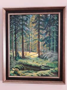A Forest Clearing painted in the style of Ivan Shishkin