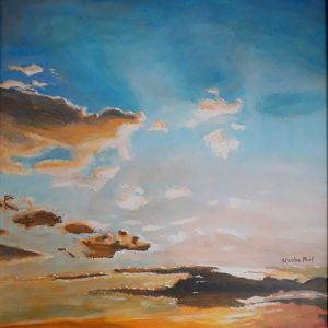 Painting of Clouds and Sky