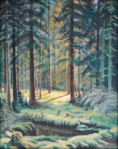 Shishkin style forest painting