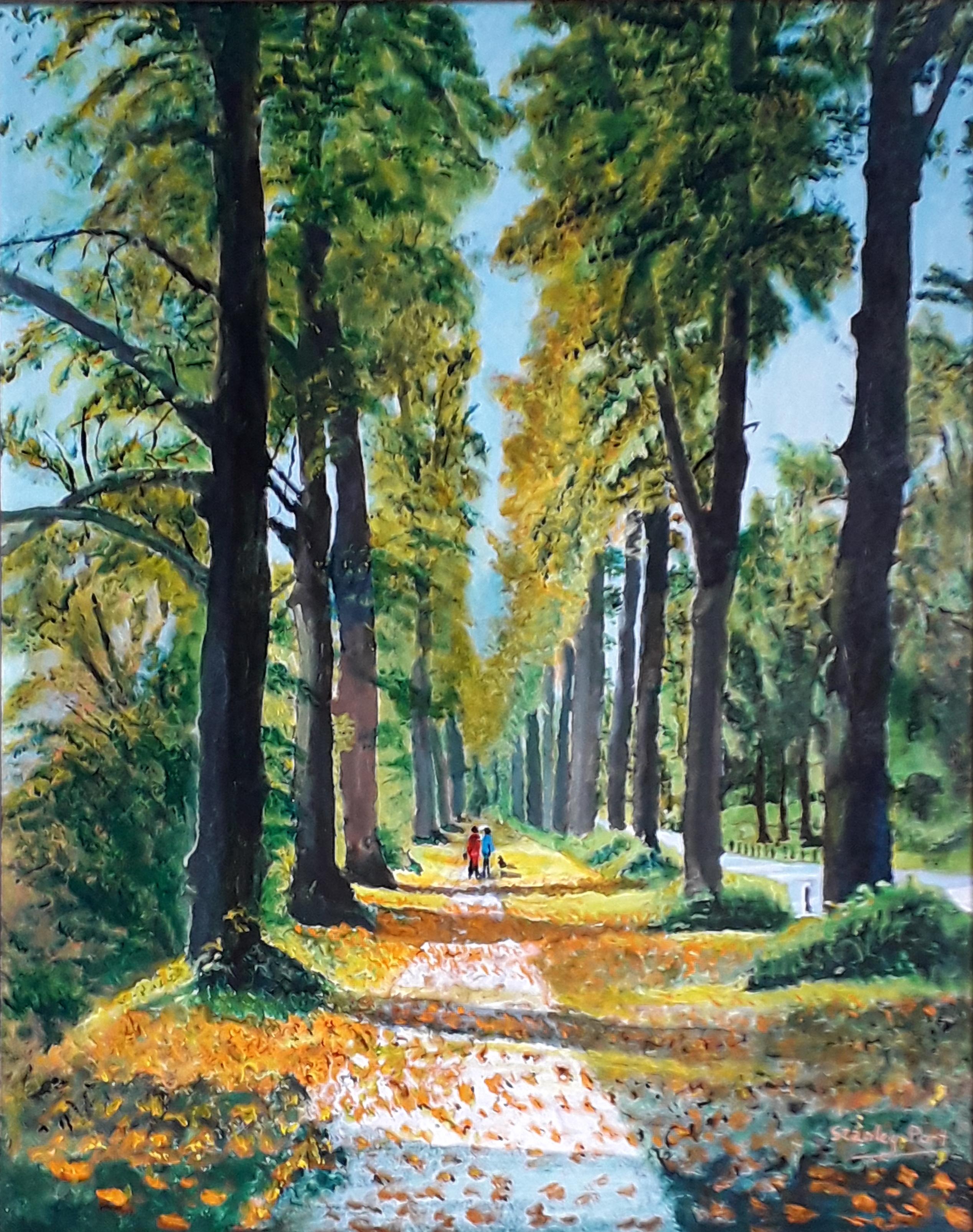 Arundel Painting A walk along Mill Road in Arundel