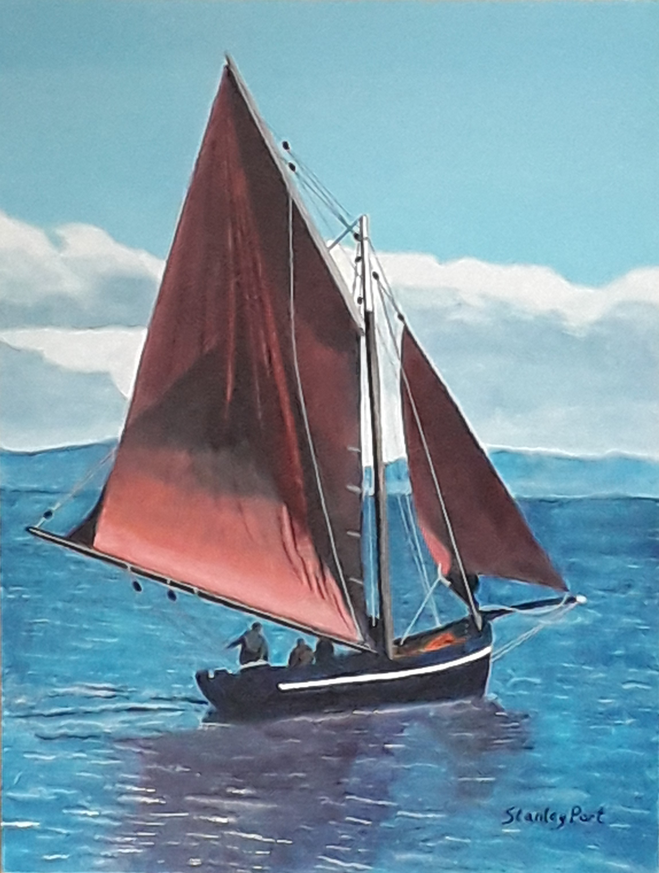 Sailing Boat Seascape Painting