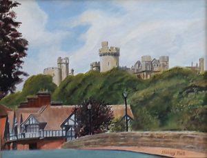 Arundel Castle from Bridge Painting