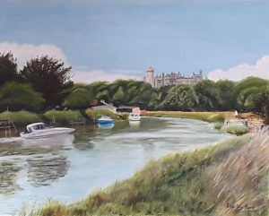 Arundel River Painting - the Castle from River Arun
