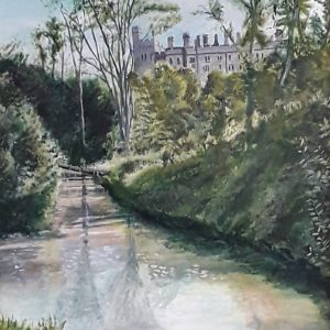 Arundel Castle from along Mill Road