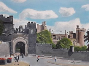 Painting of Arundel Castle Walls