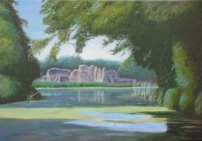 Ruins of Waverley Abbey in Surrey